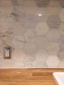 Marble Hexagon Tiles - 10SQFT
