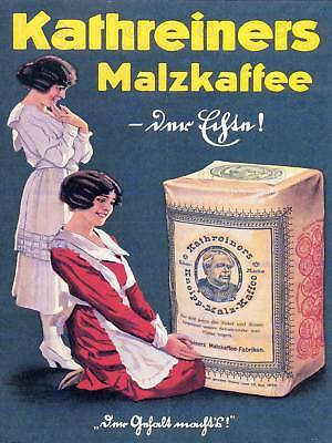 ADVERT KATHREINERS MALZKAFFEE MALTED COFFEE GERMANY POSTER ART PRINT BB1848A