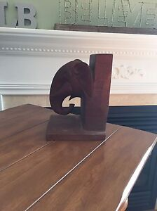 Antique Solid Wood Hand Carved Elephant Book End Kingston Kingston Area image 4