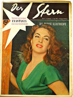 *Der Stern* Nr. 14/ 7.4.56  Dietrich, Magnani, Anastasia,Ufa - 1950er Original