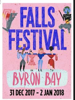 2 x Byron Bay Falls Festival Tickets (camping + car pass)