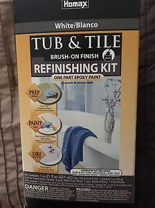 Tub and tile refinishing kit