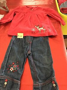 8 items of girls clothes 9-12months EUC