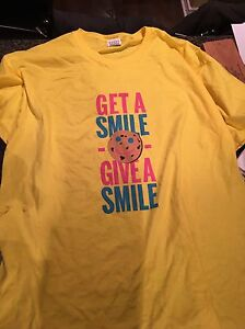 Large Tim Hortons smile cookie shirt