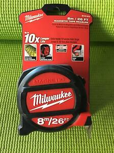 Milwaukee 8M / 26FT Magnetic Tape Measure Brunswick East Moreland Area Preview