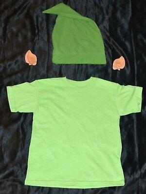 Link From Zelda Shirt, Ears & Hat Halloween Costume Kids Boys Size: 6-8 S Youth - Link From Zelda Halloween Costumes