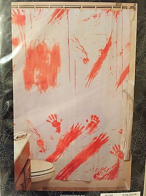 Bloody Shower Curtain Halloween Prop Haunted House Decor Scary Zombie Prank (Bloody Shower Curtain)
