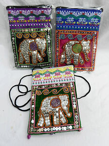 Hand Made Indian Elephant Shoulder Bag / Purse - assorted colours - BNIB