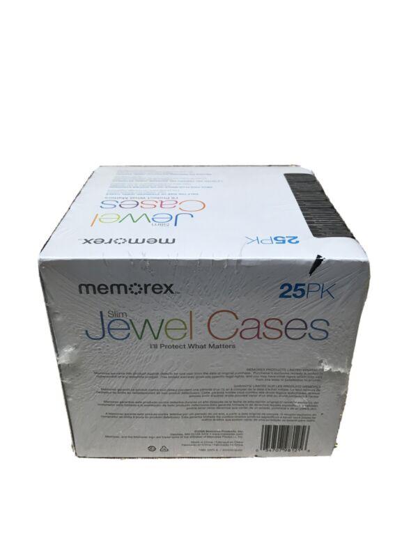 Memorex Standard Jewel Cases Black - 25 Pack New