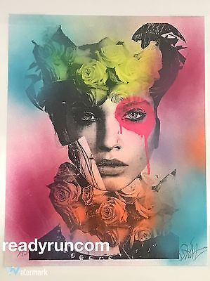 Dain Flower Neck Print Hand Embelished SOLD OUT Limited Edition Urban Art Modern