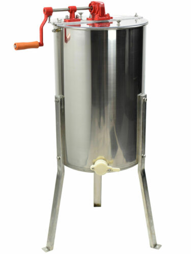 New Large Two 2 Frame Stainless Steel Honey Extractor SS VIVO Model