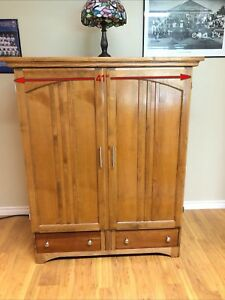 Solid Wood Unit with TV