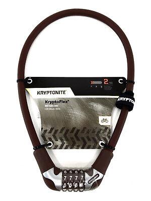 Kryptonite Kryptoflex 1265 Bicycle Combo Cable Lock 12mm x 65cm Brown