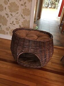 Wicker Cat Basket Bed!