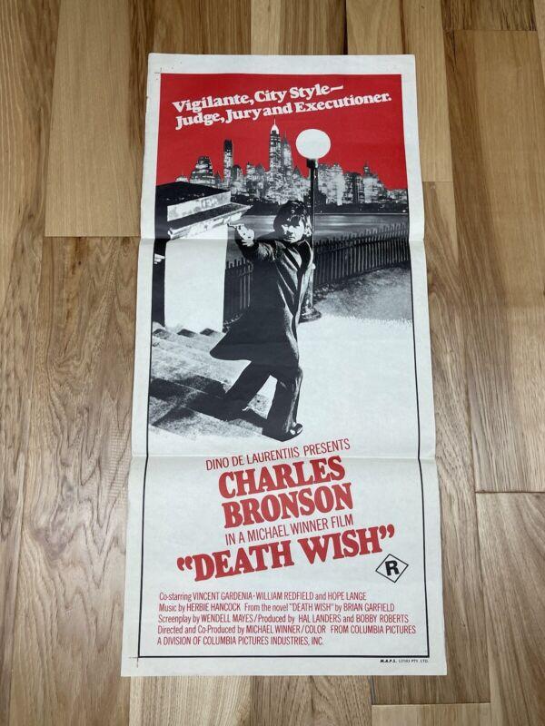 Death Wish Original 1974 Poster Australian Daybill alternative Verson artwork