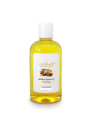 JOJOBA OIL 100% PURE RAW UNREFINED GOLDEN ORGANIC COLD PRESSED 8 OZ