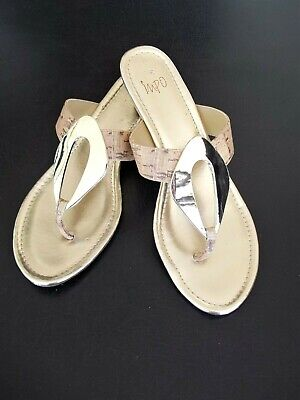 Woman's, Size 10M Gold Sandals, by impo