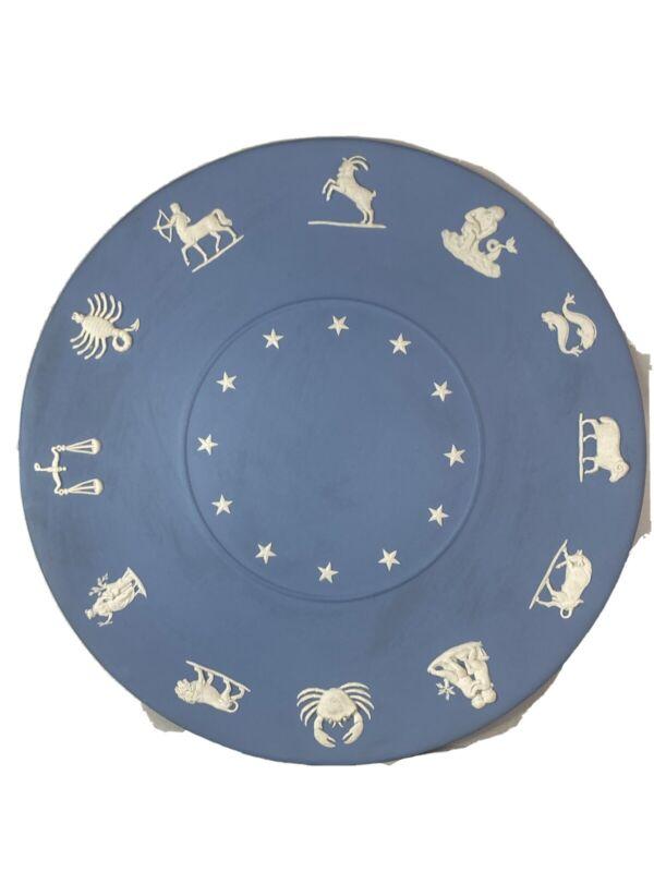 Wedgewood Jasperware Zodiac Horoscope Large Plate Collectors. Rare.