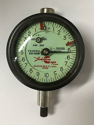 Federal Johnson Gage Co. Ids-10028 Dial Indicator 0-.040 Range .00025