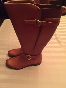 Naturalized Banana Joylynn Wide Calf Leather Boot