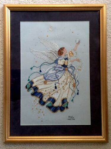 Completed Framed Cross Stitch Artwork Dimensions Gold Collection Celestial Angel