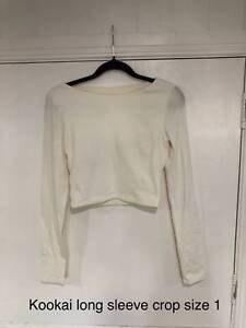 ad9a927ef95 Kookai Long Sleeve Crop, Vanilla - Size 1 | Tops & Blouses | Gumtree ...