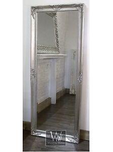 Gerona-Silver-Shabby-Chic-Leaner-Vintage-Floor-Mirror-25-x-63-X-Large