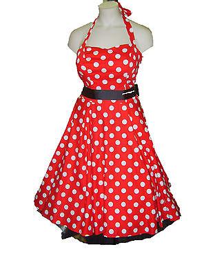 Rockabilly Swing Kleid 1950's 50's Stift Geschnürt Damen Kostüm 14 16 18 - 50's Swing Kostüm