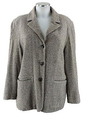 Kandis & Kandismann Gr.1 36 S Blazer Jacke braun Wolle Seide top