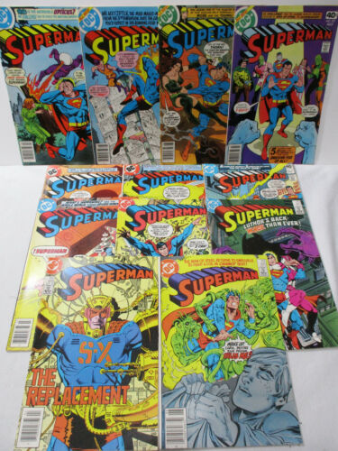 Bronze/Copper Age SUPERMAN Grab Bag #334-420 - 12 Issues