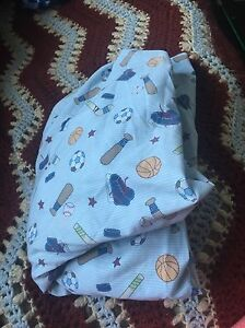 Sports fitted crib sheet