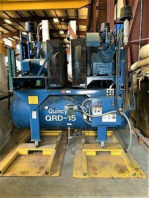 15 Hp Dual Motor Quincy Air Compressor