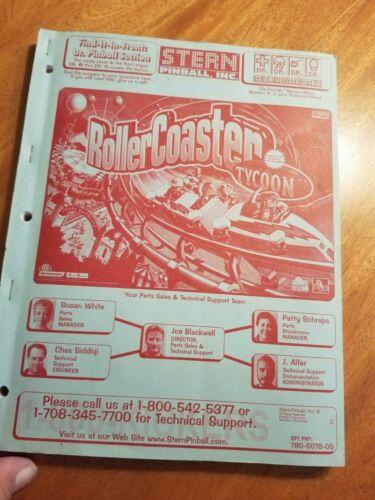 Roller coaster Tycoon  pinball manual