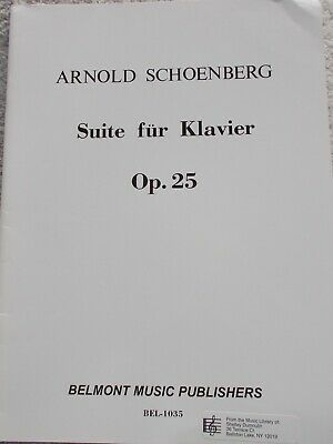 sheet music; Schoenberg Suite Arnold.; for piano UE 7627-979000800227