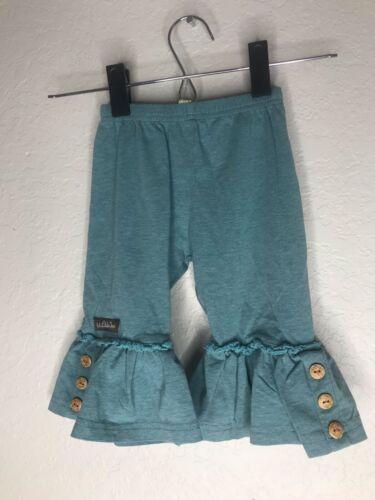 Girls Matilda Jane Pants - Green - Bell Bottom - Green 6-12m 6-12 Months Cotton
