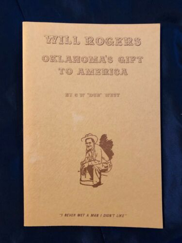 SIGNED BOOK WILL ROGERS-OKLAHOMA