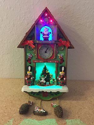SANTA'S TICK TOCK TILL CHRISTMAS CUCKOO ANIMATED MUSICAL CLOCK VIDEO