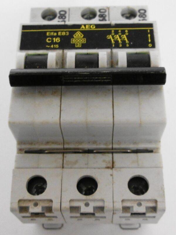 AEG  Elfa E83 C16 Circuit Breaker