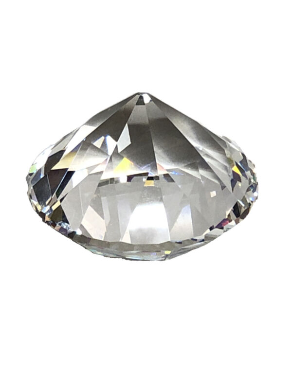 Natural Rock Crystal Quartz Faceted Prism Loose Gemstone 60MMx45MM