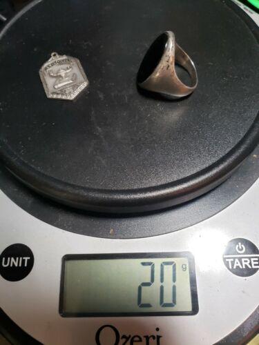 Vintage Sterling Silver Scrap or NOT DIEGES & CLUST - BLACK ONYX RING
