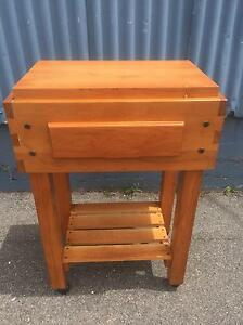 Modern pine Butchers Block - kitchen work bench (vgc) Launceston Launceston Area Preview