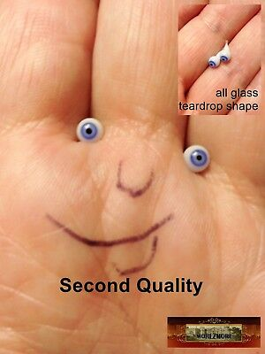 M00720 MOREZMORE Eyes Glass 4mm 1:6 1/6 Scale Seconds BLUE Small Tiny DWS