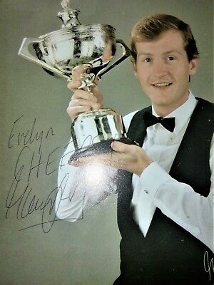 Steve Davis Snooker  Legend  Signed  10 x 8 Photo  with COA