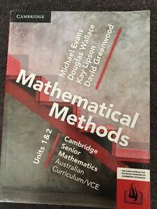 Cambridge VCE Senior Maths Methods 1&2