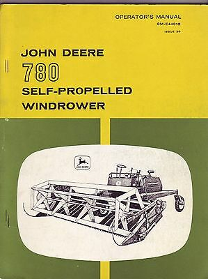 John Deere 780 Self-Propelled Windrower Manual