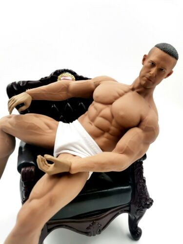 "1/6 Scale Super Muscular Male Body Sculpt Sketch Drawing Assistance 12"" Doll Hot"