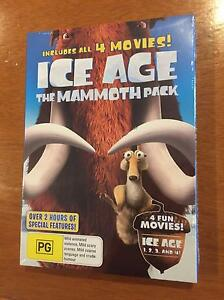 BRAND NEW: ICE AGE MANMOTH PACKS (movies 1-4) - CHRISTMAS LAUGHS Hampton Bayside Area Preview