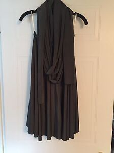Charcoal grey Henkaa convertible dress Kitchener / Waterloo Kitchener Area image 2