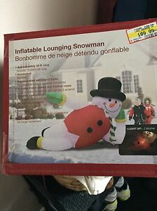 Inflatable 10ft long santa. Brand new