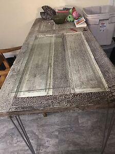 Antique door kitchen table